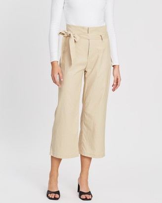 Atmos & Here Andre Linen-Blend Pants