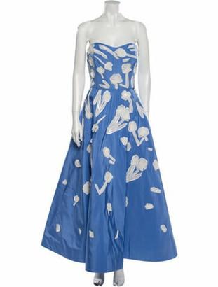 Oscar de la Renta 2018 Long Dress Blue