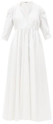 Jil Sander Niaz Cotton-poplin Maxi Dress - White