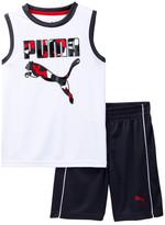 Puma Muscle Tee & Short 2-Piece Set (Little Boys)