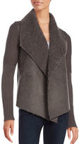 Context Sherpa-Trimmed Open-Front Cardigan