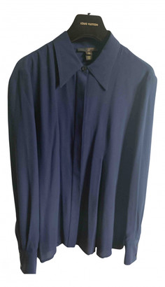 Louis Vuitton Navy Silk Tops