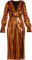 Marco De Vincenzo V-neck sequin-embellished dress