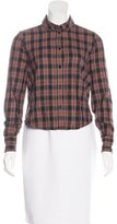 Boy By Band Of Outsiders Plaid Print Button-Up Top