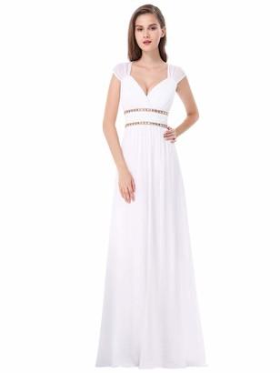 Ever Pretty Ever-Pretty Womens A Line Floor Length Sleeveless Bridesmaid Dress 22