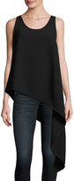 Elliatt Fortunate Asymmetric Tank Top, Black