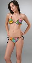 Tulum Floral Triangle Bikini Top
