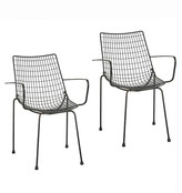 Rejuvenation Pair of Bertoia Style Outdoor Armchairs