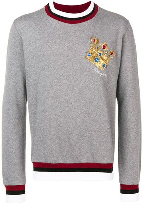 Dolce & Gabbana Crown logo patch sweater