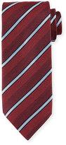 Ermenegildo Zegna Denim-Striped Silk Tie