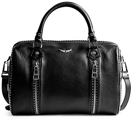 Zadig & Voltaire Sunny Medium Leather Bowling Bag