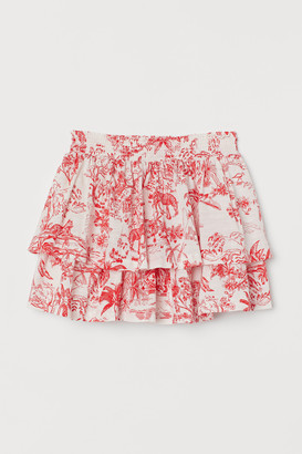 H&M Patterned Tie Skirt
