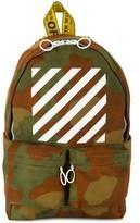 Off-White Men's Green Polyester Backpack.