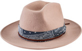 San Diego Hat Company Women's Cowboy Hat with Bandana WFH8045