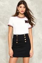 Nasty Gal nastygal Button and On Mini Skirt