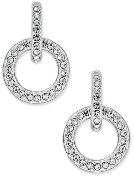 Eliot Danori Silver-Tone Pave Open Link Drop Earrings, Created for Macy's