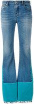 Roberto Cavalli velvet panelled jeans - women - Cotton/Spandex/Elastane - 42