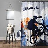 "Lush Decor 16T000926 Bmx Shower Curtain, 70"" x 72"", Blue"