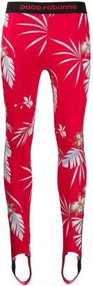 Paco Rabanne Floral Stirrup Leggings