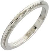 Tiffany & Co. 950 Platinum Milgrain Wedding Band Ring Size 5.25
