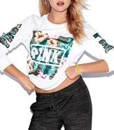 CFD Womens Mix Color Letters Printed Long Sleeve Sweatshirts L