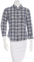Band Of Outsiders Long Sleeve Plaid Button-Up