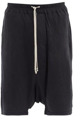 Rick Owens Pods Cotton-jersey Shorts - Black