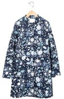 Gucci Girls' Collared Floral Print Coat w/ Tags