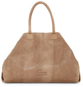 Liebeskind Berlin Snake Embossed Leather Folding Tote