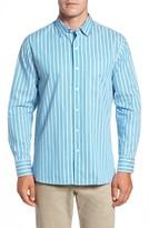 Tommy Bahama Men's Big & Tall Surf The Line Stripe Sport Shirt