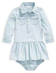 Ralph Lauren Baby Girl's 2-Piece Chambray Shirtdress & Bloomers Set