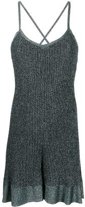 M Missoni metallic knit strappy dress