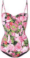 Dolce & Gabbana rose print swimsuit - women - Polyamide/Polyester/Polyurethane/Spandex/Elastane - 2