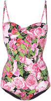 Dolce & Gabbana rose print swimsuit - women - Polyamide/Spandex/Elastane/Polyester/Polyurethane - 2