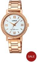 Lorus Rose Gold Bracelet Ladies Watch