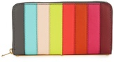 Sophie Hulme Roseberry rainbow striped leather wallet