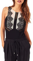 Miss Selfridge Lace & Mesh Bodysuit
