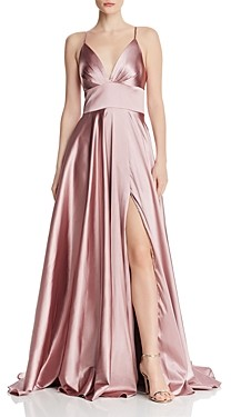 Faviana Couture Draped Charmeuse Gown