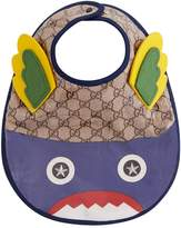 Gucci Monster Monogrammed Bib, White, One Size