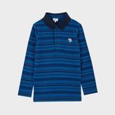 Paul Smith Boys' 2-6 Years Striped Zebra-Logo 'Mali' Polo Shirt