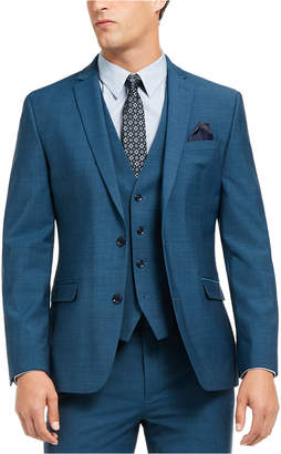 Bar III Men Slim-Fit Active Stretch Performance Teal Suit Separate Jacket