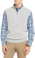 Roundtree & Yorke Big & Tall Birdseye Quarter-Zip Sweater Vest