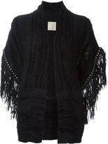 Laneus fringed knit gilet
