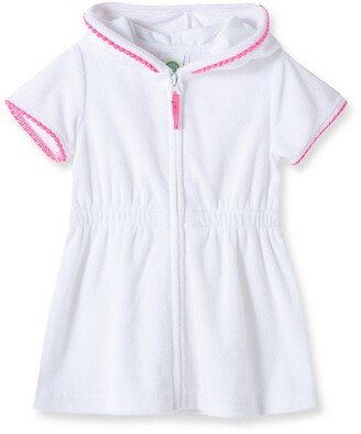 Little Me Terry Cover-Up Hooded Dress