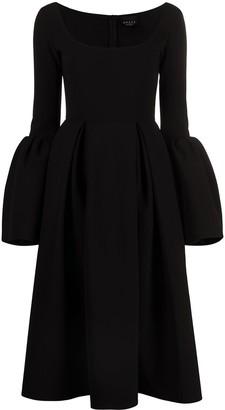 A.W.A.K.E. Mode Box-Pleat Detail Dress