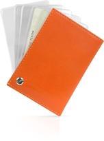 Giorgio Fedon Classica - Orange Calfskin Business Card Holder