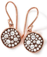 Ippolita 18k Rose Gold Stardust Flower Mini Diamond Drop Earrings