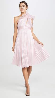 Giambattista Valli Metallic One Shoulder Dress