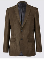 M&S Collection Suedette 2 Button Jacket