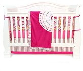 One Grace Place Sophia Lolita Infant Crib Bedding Set, White/Pink/Orange/Black, 4 Piece by